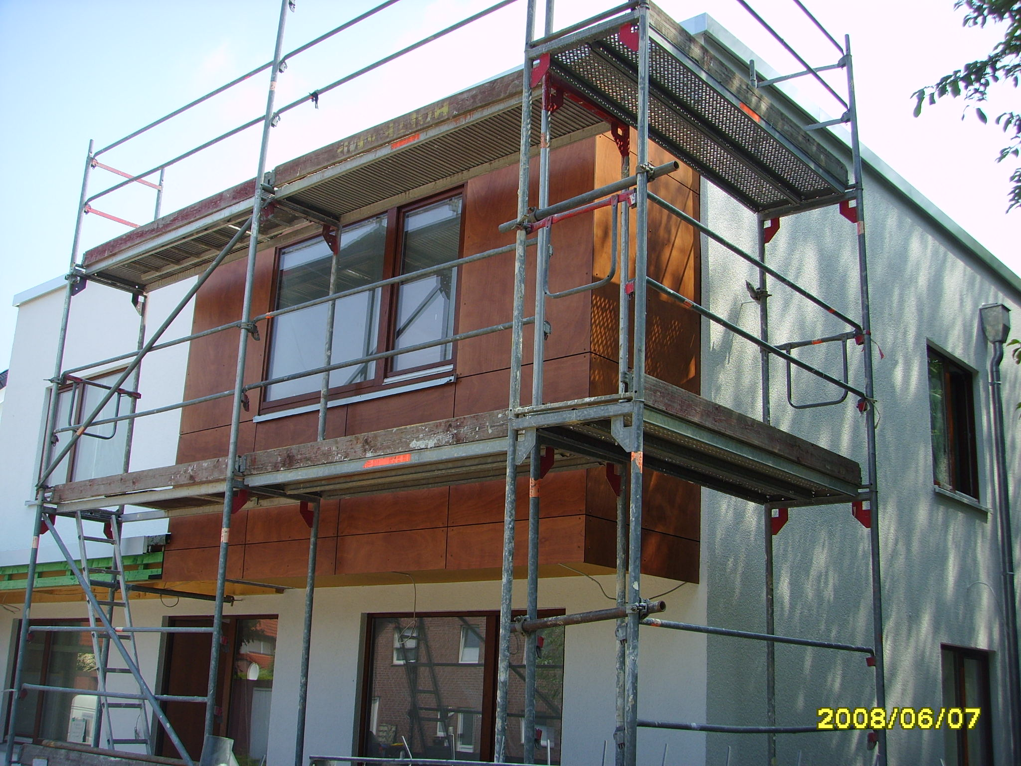 24 kw fassade holzhaus fertighaus holzbau anbau umbau. Black Bedroom Furniture Sets. Home Design Ideas